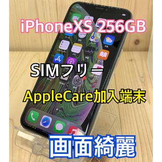 Apple - 画面綺麗】ケア加入】iPhone XS 256 GB Gray SIMフリー