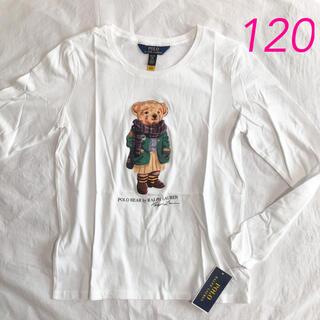 ポロラルフローレン(POLO RALPH LAUREN)のラルフローレン ポロベア ガールズロンT ホワイト 6/120(Tシャツ/カットソー)