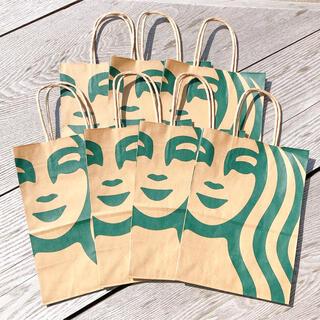 Starbucks Coffee - スターバックス リニューアル サイレンロゴ ショップ袋 ショッパー 7枚 スタバ