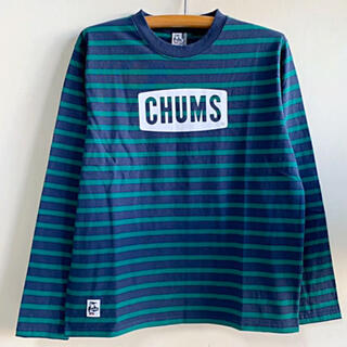 チャムス(CHUMS)の新品 CHUMS ロゴ ロングTシャツ チャムス  ngm(Tシャツ/カットソー(七分/長袖))