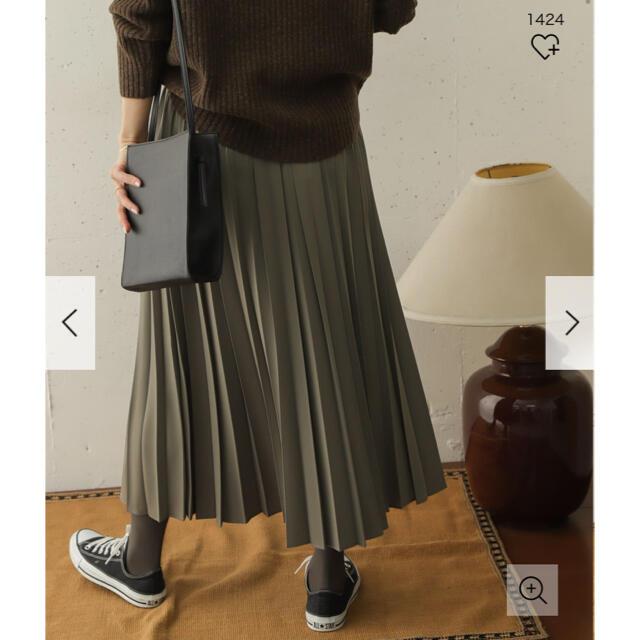 DOORS / URBAN RESEARCH(ドアーズ)の新品タグ付◉ ランダムプリーツスカート DOORS カーキ レディースのスカート(ロングスカート)の商品写真