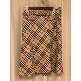 BURBERRY - バーバリー スカート 38ノバチェック ベルト付き