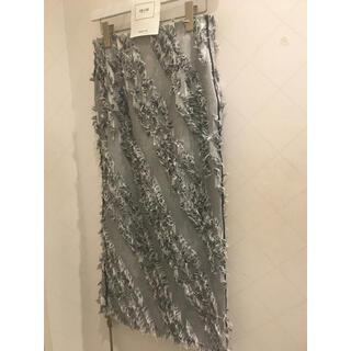 FRAY I.D - フレイアイディー  フリンジジャガードタイトスカート