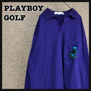 プレイボーイ(PLAYBOY)の【プレイボーイ】長袖 ゴルフウェア ワンポイントロゴ 刺繍ロゴ 紫 ゴルフ 9(ウエア)