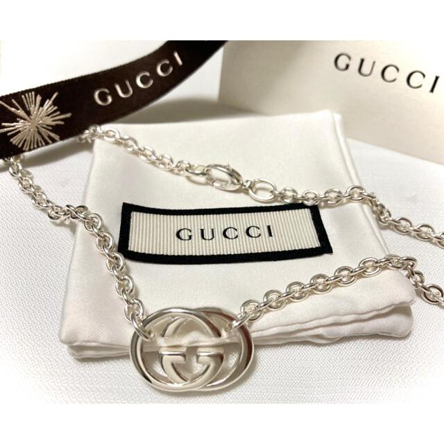 Gucci(グッチ)のGUCCI/グッチ インターロッキング/ダブルG ネックレス シルバー925 メンズのアクセサリー(ネックレス)の商品写真