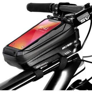 自転車トップチューブバッグ 収納力抜群 梅雨対策 完全防水防圧 防塵 耐摩耗(バッグ)