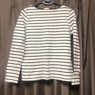ジーユー(GU)のGUジーユー ボートネックボーダートップス Tシャツ ロンT ロングTシャツ(Tシャツ(長袖/七分))