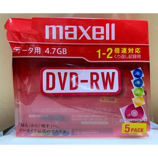 マクセル(maxell)のmaxell DVD RW 5枚(PC周辺機器)