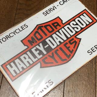 ハーレーダビッドソン(Harley Davidson)のハーレーダビッドソン PARTS SERVICE ブリキ看板(その他)