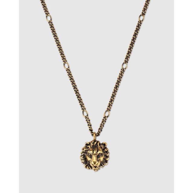 Gucci(グッチ)のGUCCI ライオンヘッドペンダント付きネックレス メンズのアクセサリー(ネックレス)の商品写真