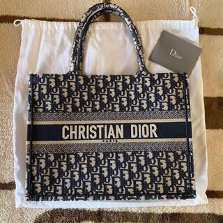 Christian Dior - ディオールブックトート ネイビー オブリーク バッグ トートバッグウォレット
