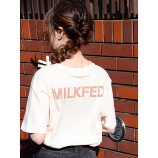 MILKFED. - 新品♡ミルクフェド ステンシルロゴ入りTシャツ オフホワイト