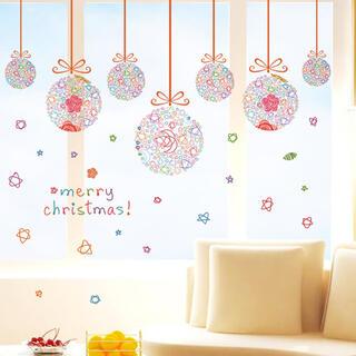 M89 ウォールステッカークリスマス雪だるま 剥がせるシートインテリア飾り付け