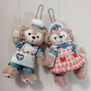 ダッフィー - ダッフィー&シェリーメイ エプロン衣装ぬいぐるみバッチ2点セット Duffy