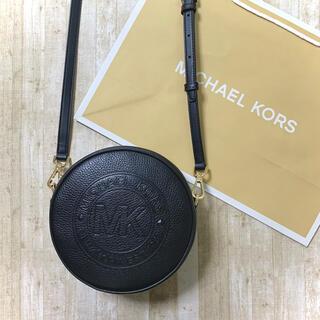 Michael Kors - 新品未使用 マイケルコース サークル ブラック レザー ロゴ ショルダーバッグ
