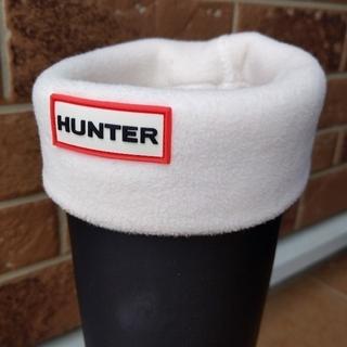 HUNTER - HUNTER ハンター 靴下 ソックス レインブーツ用 白