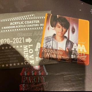 AAA - AAA  cafe  アクリルコースター        西島隆弘   Nissy