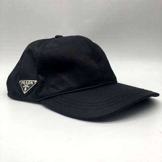 PRADA - ブラック キャップ 帽子 TESSUTO TRIANGO ベースボール プラダ