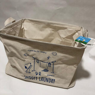 SNOOPY - ★新品未使用品★ スヌーピー  ランドリーバスケット 洗濯カゴ