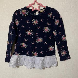 アンバー(Amber)のAmber 花柄チュニックTシャツ(Tシャツ/カットソー)