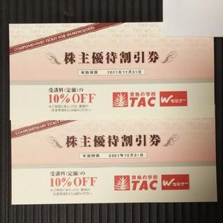 タックシュッパン(TAC出版)のTAC株主優待券2枚セット(その他)