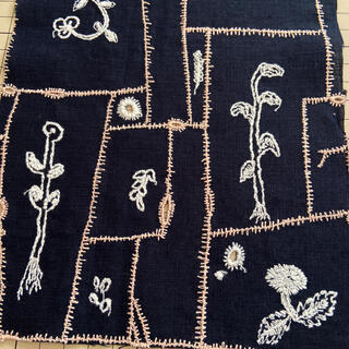 mina perhonen - ミナペルホネン garden patchwork ネイビー ハギレ 生地
