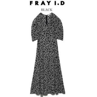 FRAY I.D - FRAY I.D フレイアイディー パフスリーブフラワーワンピース