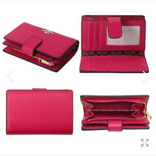 COACH - COACH 財布 二つ折り財布 ピンクルビー