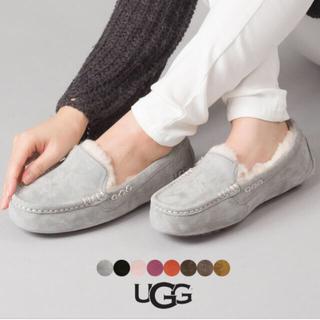 UGG - 【美品】UGG アグ アンスレー モカシン 23 正規品 ライトグレー