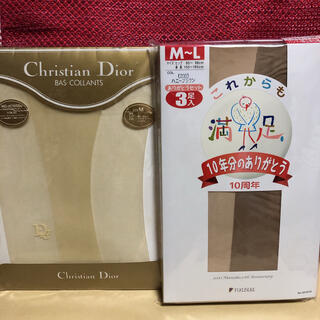 クリスチャンディオール(Christian Dior)の【新品未使用】Dior 福助 ストッキング 2点セット(タイツ/ストッキング)