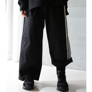 ワイスリー(Y-3)のY-3 M 3STP GABADINE WIDE PANTS(BLACK)(スラックス)