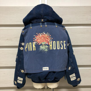 PINK HOUSE - ピンクハウス いちごブーケゼッケン デニム  ブルゾン