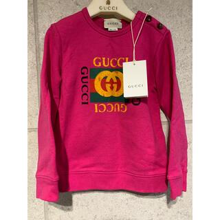 Gucci - GUCCI グッチ チルドレン キッズ オールドロゴ トレーナー ピンク 36歳