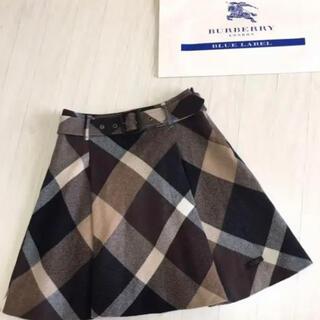 BURBERRY BLUE LABEL - 【美品】BURBERRY チェックスカート