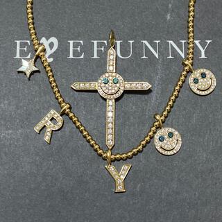 EYEFUNNY - eyefunny アイファニー 18k YG ダイヤモンド スマイル ネックレス