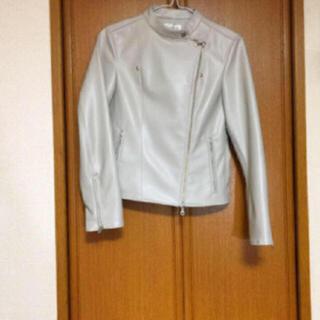 プラステ(PLST)の【新品タグ付き】PLST エコレザー ライダースジャケット(ライダースジャケット)