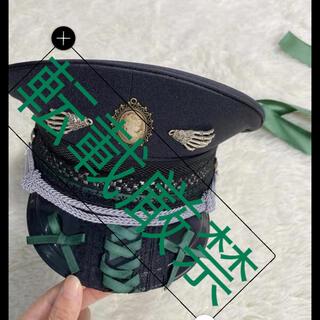 軍帽 ポリスハット カスタム軍帽 シルバー 銀(衣装一式)