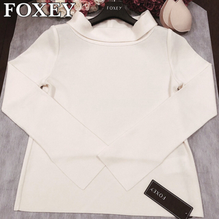 FOXEY - FOXEY フォクシー セーター ニット グレースウール ロールカラー 襟✨38