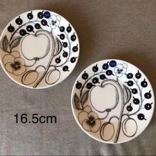 アラビア(ARABIA)の新品☆ アラビア ブラックパラティッシ 2枚セット プレート 16.5cm(食器)
