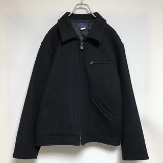 EDWIN - vintage EDWIN ドリズラージャケット ウール ブラック 古着