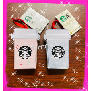 Starbucks Coffee - 残りわずか❗️スターバックス☆ヴィア☆オーナメント缶入りほうじ茶&ホワイトモカ