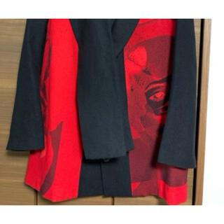 Yohji Yamamoto - yohji yamamoto 赤フラ ストールジャケット