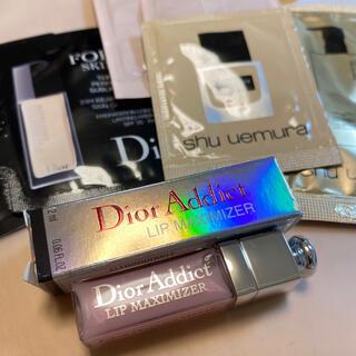 ディオール(Dior)のDior アディクト リップ マキシマイザー #001 ミニサイズ(リップグロス)