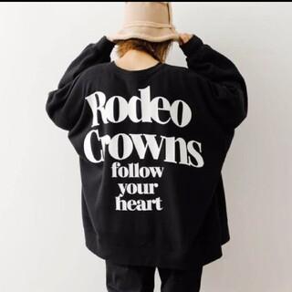 ロデオクラウンズワイドボウル(RODEO CROWNS WIDE BOWL)の特別提供価格ブラック※早い者勝ちノーコメント即決しましょ❗️ご決断お急ぎください(トレーナー/スウェット)