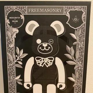 フラグメント(FRAGMENT)のBE@RBRICK FREEMASONRY×fragmentdesign 黒(キャラクターグッズ)