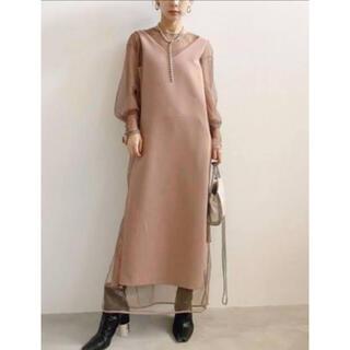 Ameri VINTAGE - Ameri Vintage TULLE DOCKING DRESS Mサイズ