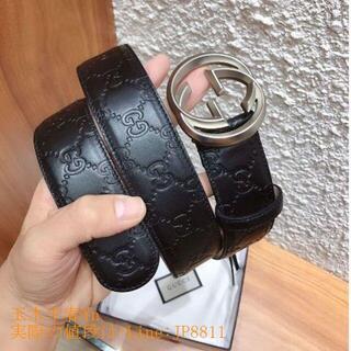 Ferragamo - グッチ 大人気 ダブルGバックル レザー ベルト 3.8 cm幅