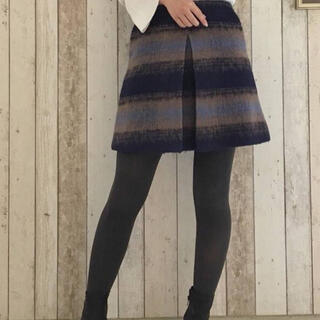 MERCURYDUO - マーキュリーデュオ シャギー チェック 台形 スカート