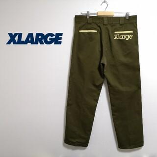 エクストララージ(XLARGE)の【美品】XLARGE バックロゴ チノパン(チノパン)