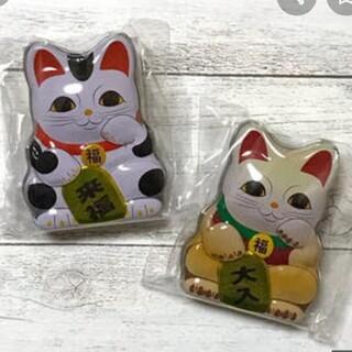 カルディ お正月 招き猫缶 2個セット(菓子/デザート)
